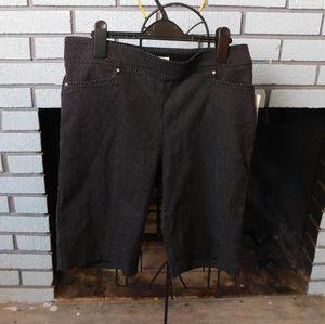 89th & Maddison black with white poke-a-dot shorts